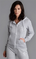 Picture of Gym King Women's GK Jenner Zip Through Hoodie Grey Marl