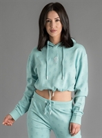 Picture of Gym King Women's GK Avril Cropped Hoodie Loopback Aqua