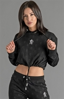 Picture of Gym King Women's GK Avril Cropped Hoodie Loopback Black