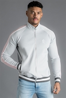 Picture of Gym King Jacket Strickland Poly Funnel Neck Tracksuit Top Microchip/Pink