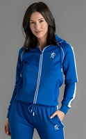 Picture of Gym King Women's GK Arena Poly Tracksuit Top Blue/White