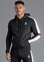 Picture of Gym King Hoody GK Capone Zip Through Tracksuit Top Black/Grey/Purple/White