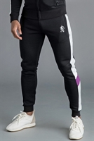 Picture of Gym King Joggers GK Capone Tracksuit Bottoms Black/Grey/Purple/White