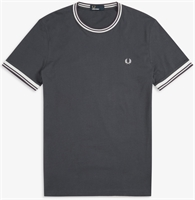 Picture of Fred Perry T-Shirt Twin Tipped Graphite