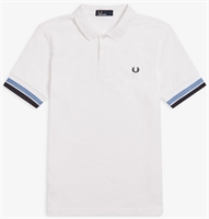 Picture of Fred Perry Polo Shirt Bold Cuff White