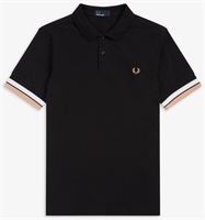 Picture of Fred Perry Polo Shirt Bold Cuff Black
