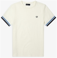 Picture of Fred Perry T-Shirt Bold Tipped Snow White