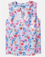 Picture of Joules Top Juliette Print White Multi Floral