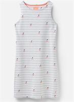 Picture of Joules Dress Riva Grey Cherry Stripe