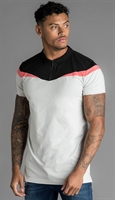 Picture of Gym King Polo Shirt GK Owens Jersey Microchip/Black/Coral