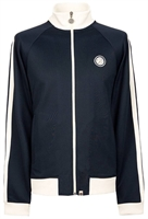 Picture of Pretty Green Jacket Contrast Panel Track Top Navy