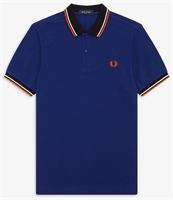 Picture of Fred Perry Polo Shirt Contrast Rib Medieval Blue