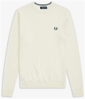 Picture of Fred Perry Knitwear Merino Crew Neck Light Ecru