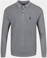 Picture of Luke 1977 Knitwear Job And Knock Mid Marle Grey