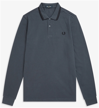 Picture of Fred Perry Long Sleeved Polo Shirt M3636 Graphite