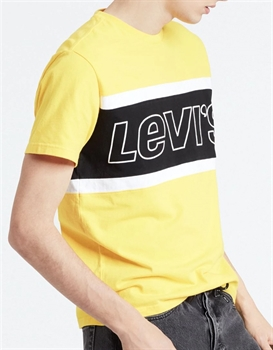 Picture of Levi's T-Shirt Colorblock Tee Brilliant Yellow