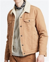 Picture of Levi's Jacket Sherpa Trucker Desert Boots Brown