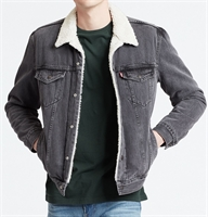 Picture of Levi's Jacket Sherpa Trucker Tarmac Black