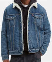 Picture of Levi's Jacket Sherpa Trucker Mayze Blue