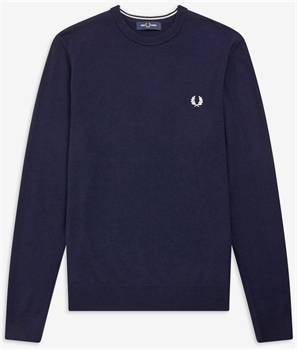 Picture of Fred Perry Knitwear Merino Crew Neck Phantom Marl