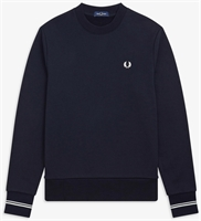Picture of Fred Perry Sweatshirt Crew Neck Navy