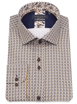 Picture of Guide London Shirt LS75140 Navy/Tan