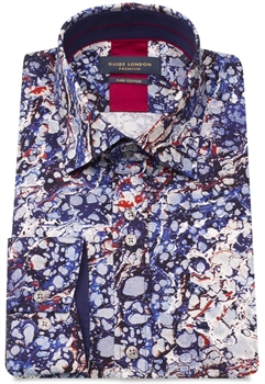 Picture of Guide London Shirt LS75180 Navy