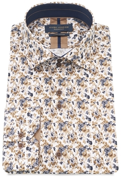 Picture of Guide London Shirt LS75215 White/Tan