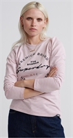 Picture of Superdry Ladies Top Dunne Stripe Graphic Pink Stripe