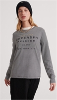 Picture of Superdry Ladies Top Dunne Stripe Graphic Black Stripe