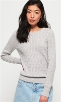 Picture of Superdry Ladies Knitwear Croyde Cable Ice Grey Marl