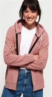 Picture of Superdry Ladies Hoody Orange Label Elite Zip Smoke Rose