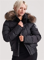 Picture of Superdry Ladies Jacket Everest Ella Bomber Black