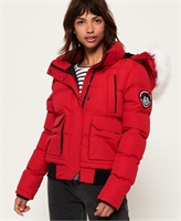 Picture of Superdry Ladies Jacket Everest Ella Bomber Chili Pepper