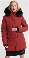 Picture of Superdry Ladies Jacket Ashley Everest Parka Brick Red