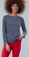 Picture of Joules Top Matilde Navy Cream Stripe