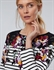 Picture of Joules Top Harbour Print Black Border Peony