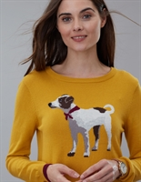Picture of Joules Knitwear Miranda Gold Terrier
