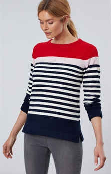 Picture of Joules Jumper Seaham Navy Creme Red