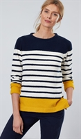 Picture of Joules Jumper Seaham Navy Cream Gold