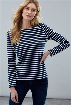 Picture of Joules Top Harbour Navy Cream Stripe
