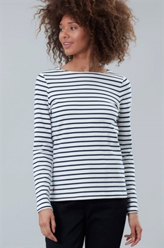 Picture of Joules Top Harbour Creme Navy Stripe