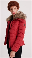 Picture of Superdry Ladies Jacket Arctic Glaze Lollipop Red