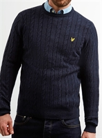Picture of Lyle & Scott Knitwear Cable Jumper Dark Navy