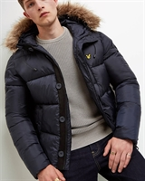 Picture of Lyle & Scott Jacket Wadded Hooded Bomber Dark Navy