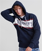 Picture of Superdry Hoody Retro Sport Eclipse Navy