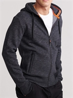 Picture of Superdry Hoody Urban Athletic Classic Zip Oxide Black Feeder