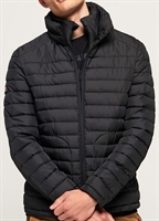 Picture of Superdry Jacket Double Zip Fuji Washed Black