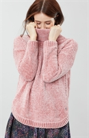 Picture of Joules Jumper Chelsey Chenille Roll Neck Pink