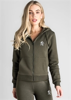 Picture of Gym King Women's GK Jenner Zip Through Hoodie Forest